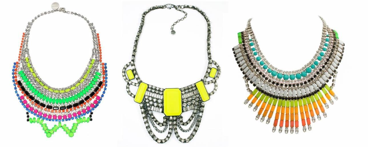 diy neon statement necklace - photo #15