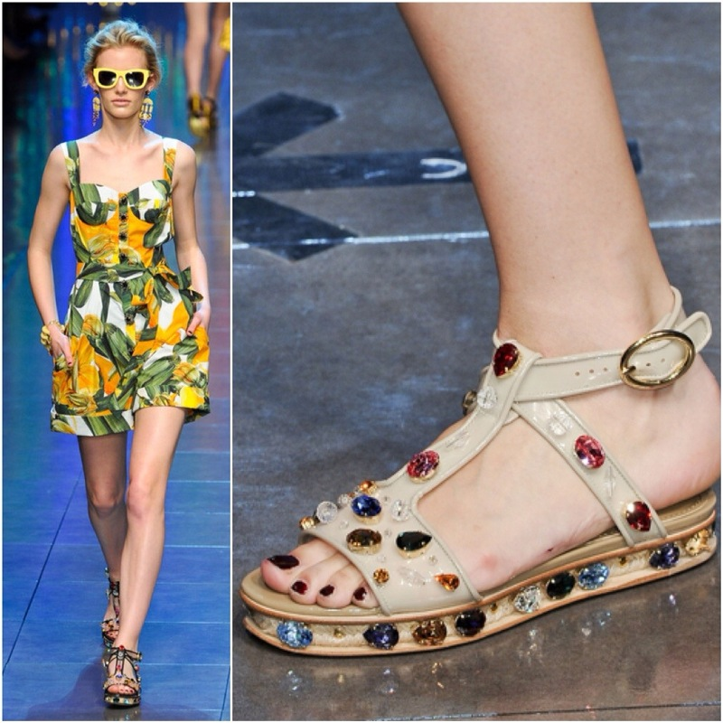 bc149dfe346c DIY  Dolce and Gabbana Inspired Jeweled Jelly Sandals