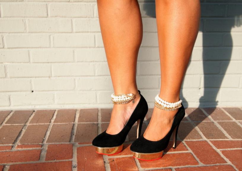 32f7dce18646 DIY  Embellished Ankle Straps… Part 2. Do ...