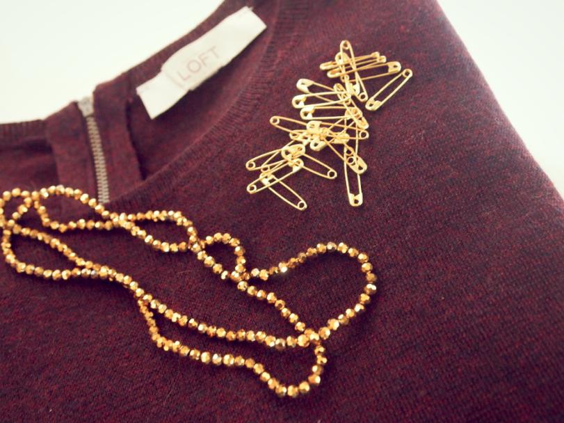 DIY Loft Peplum sweater Beaded Collar MATERIALS