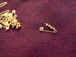 DIY Loft Peplum sweater Beaded Collar PIN