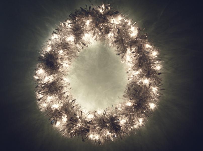 DIY Metallic Garland Wreath All of the lights