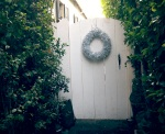 DIY Metallic Garland Wreath