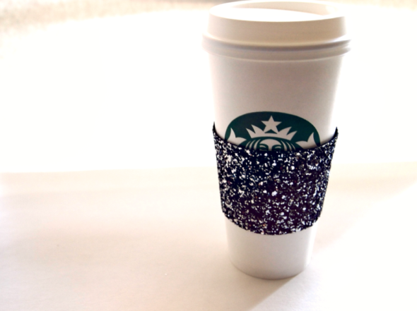Glitter 'N Glue DIY Glitter Coffee Sleeve DETAIL