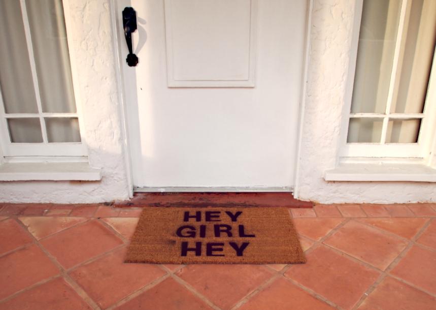 Glitter 'N Glue Personalized Doormat DIY