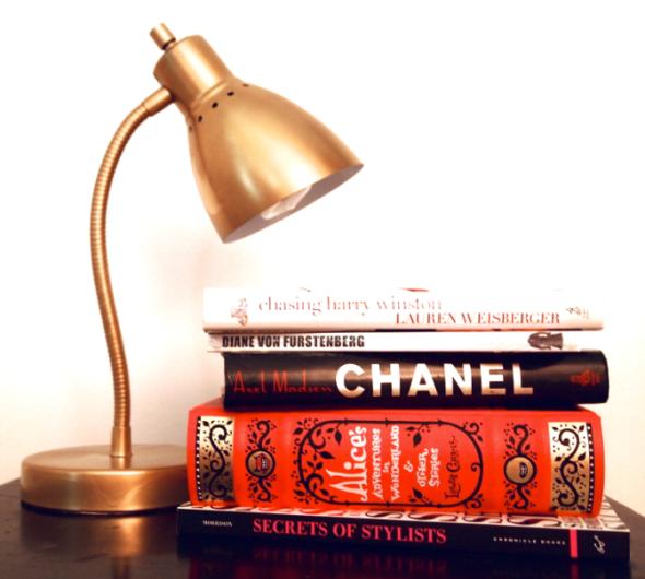 Glitter N Glue DIY Gold Spray Paint Desk Lamp DESK