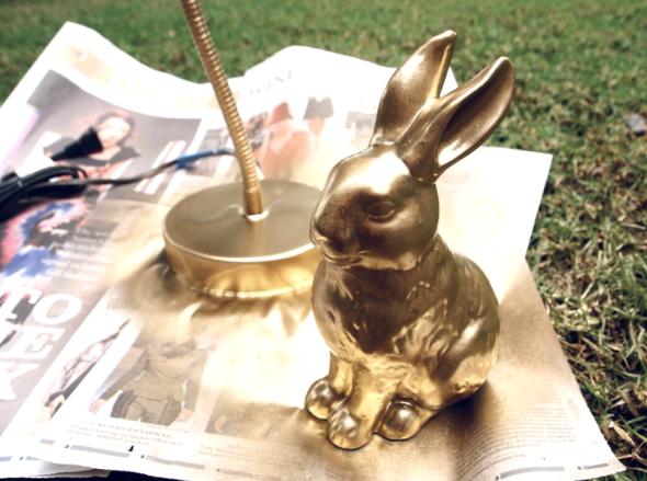 Glitter N Glue DIY Gold Spray Paint Desk Lamp PAINT