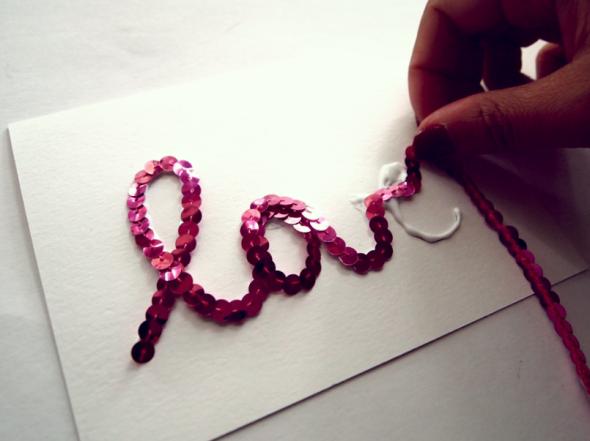 Glitter N Glue DIY Sequin Valentines Cards SEQUINS