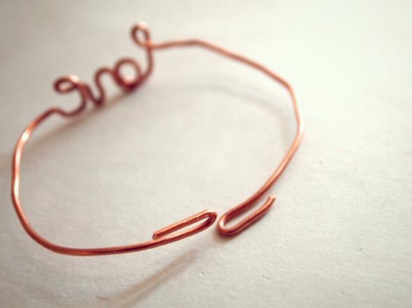 Glitter N Glue DIY Wire LOVE Valenties Bracelet TO CLOSE