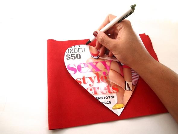 Glitter N Glue DIY Sequin Heart Shaped Valentine's Purse TRACE