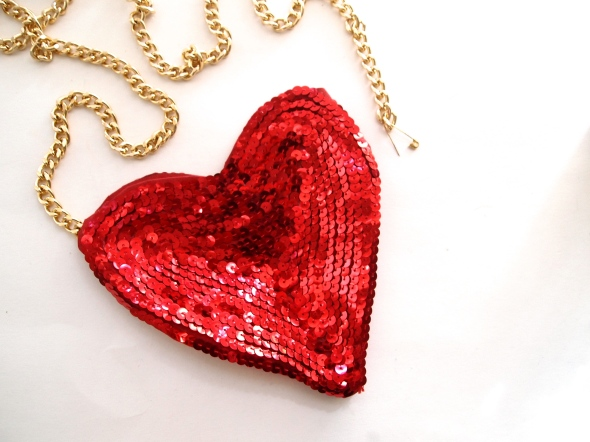 Glitter N Glue DIY Sequin Heart Shaped Valentine's Purse PIN