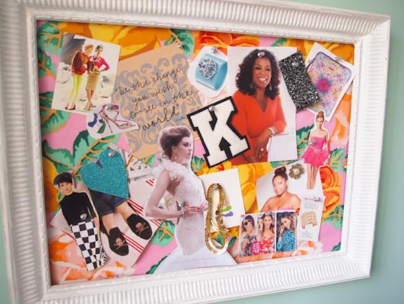 Glitter 'N Glue DIY Framed Fabric Inspiration Board COLLAGE