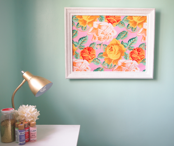 Glitter Glue And Paint Color Inspiration: DIY: Framed Fabric Inspiration Board