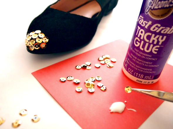 Glitter 'N Glue Sole Socielty Sequin Cap Toe DIY GLUE