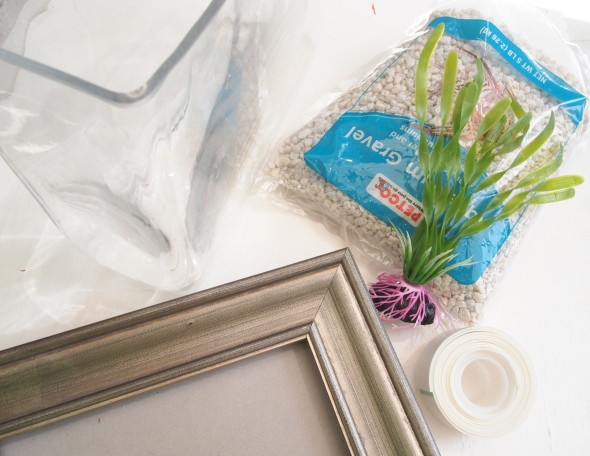 Glitter 'N Glue DIY Framed Fish Tank  - Aquarium MATERIALS