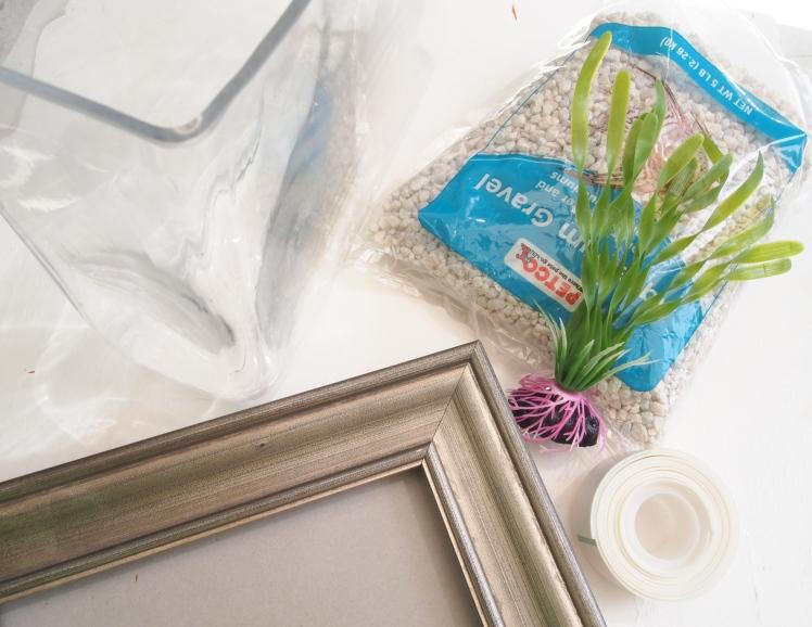 Glitter 'N Glue DIY Framed Fish Tank  - Aquarium MATERIALS
