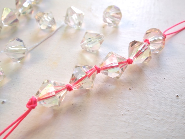 Glitter 'N Glue DIY Lucite And Neon Necklace THREAD