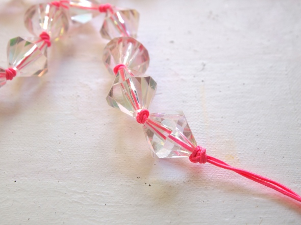 Glitter 'N Glue DIY Lucite And Neon Necklace DOUBLE KNOT