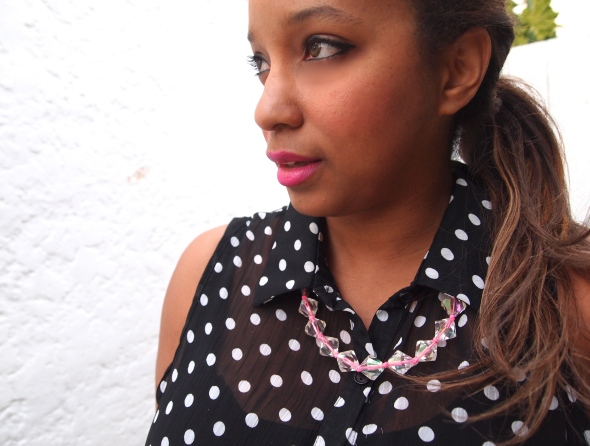 Glitter 'N Glue DIY Lucite And Neon Necklace