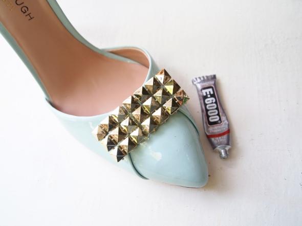 Glitter N Glue DIY Sole Society Julianne Hough Stud Embellishment Pump PLACE
