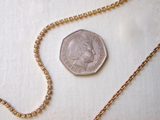 Glitter 'N Glue DIY Coin 'N Rhinestone Pendant Necklace MATERIALS
