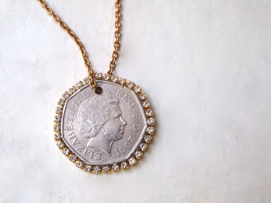 Glitter 'N Glue DIY Coin 'N Rhinestone Pendant Necklace