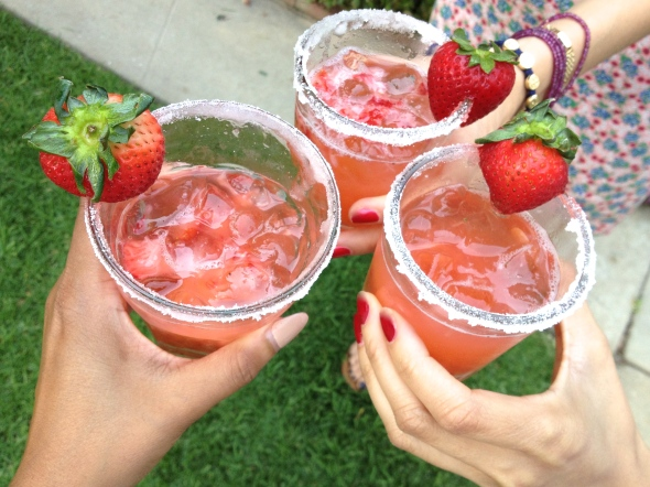 Glitter N Glue DIY Strawberry Margarita Recipe