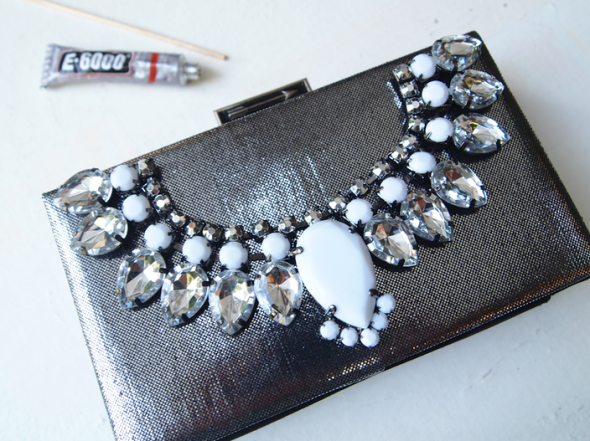 Glitter 'N Glue DIY Jeweled Embellished Clutch GLUE
