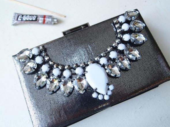 Glitter 'N Glue DIY Jeweled Embellished Clutch GLUE