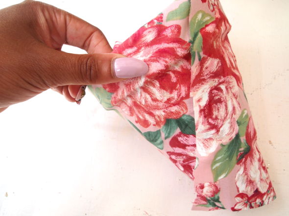 Glitter N Glue DIY Floral Fabric Covered Clay Pot WRAP