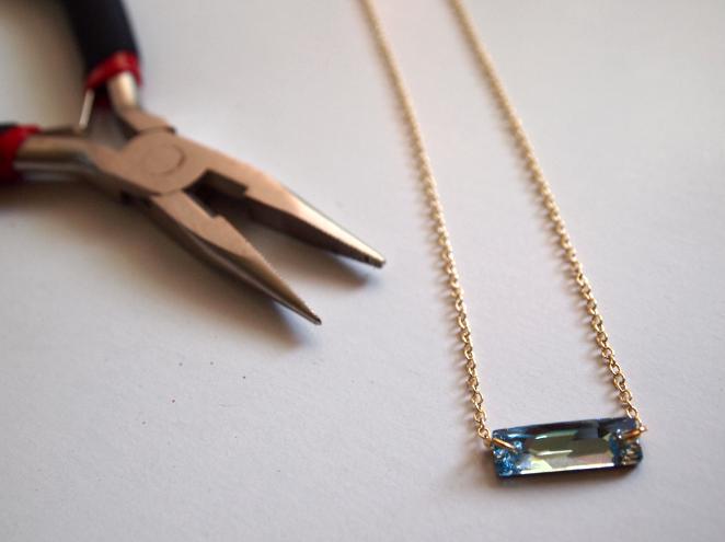 Glitter N Glue Delicate Swarovski Necklace DIY CHAIN