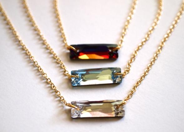 Glitter N Glue Delicate Swarovski Necklace DIY  DETIAL
