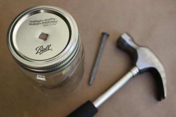 Glitter N Glue Mason Jar and Striped Straw DIY NAIL