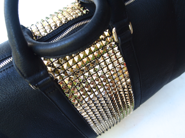 Glitter N Glue Sole Society  Stud Weekend Bag DIY STUD