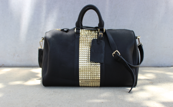 Glitter N Glue Sole Society  Stud Weekend Bag DIY
