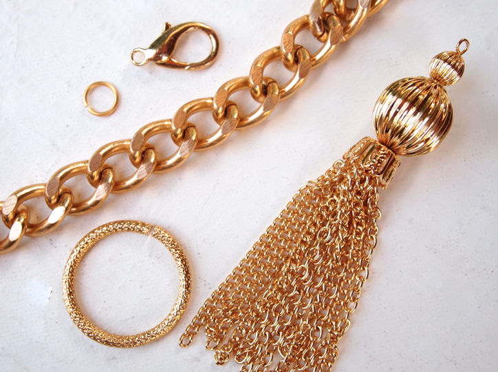 Glitter N Glue DIY Chain And Tassel Belt MATERIALS