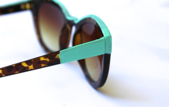 Glitter N Glue DIY Color Block Sunglasses Sole Society SIDE