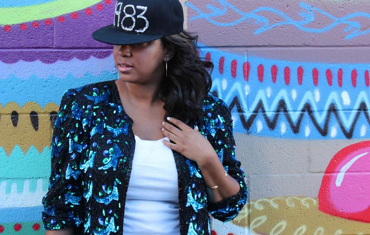DIY  Glitter Hat a la Janet Jackson And The Rhythm Nation  34f1feaef73