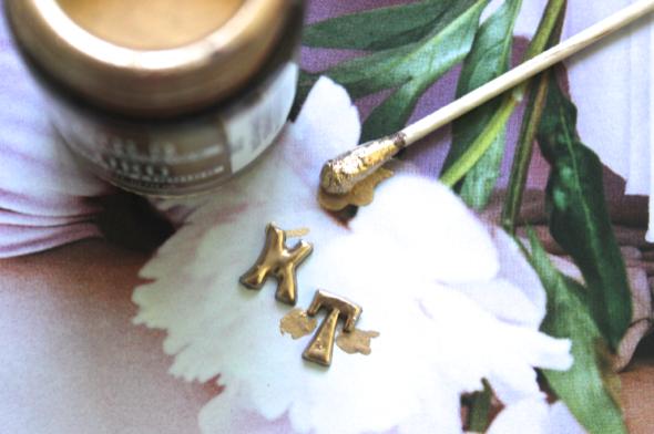 Glitter N Glue DIY initial Stud Earrings PAINT