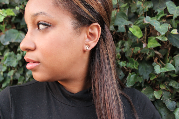 the initial earrings made gold mini pin celebrities wearing heart stud and trend letter