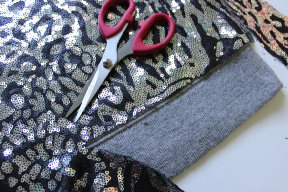 GNG Sequin Embellished sweatshirt DIY  CUT