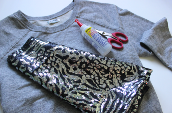 GNG Sequin Embellished sweatshirt DIY  MATERIALS