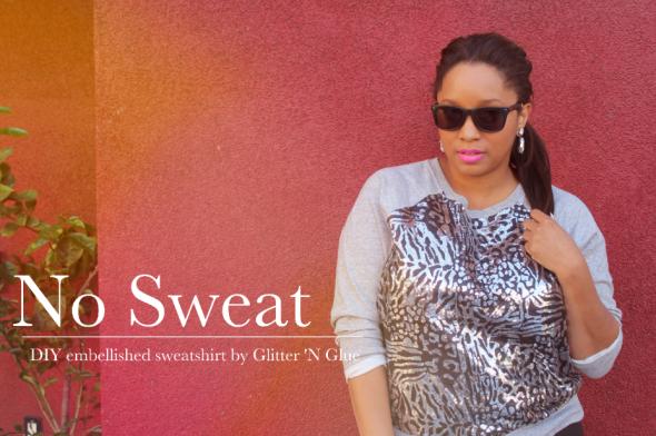 GNG Sequin Embellished sweatshirt DIY