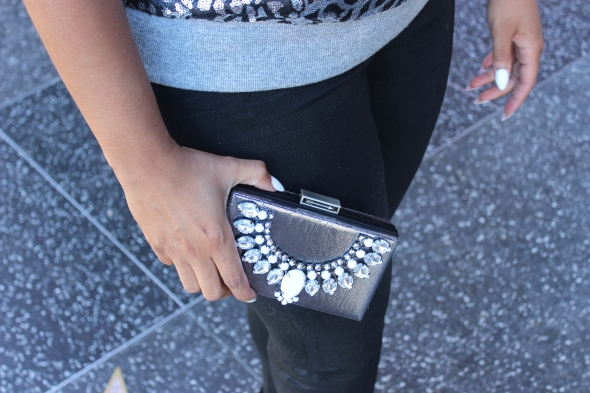 Glitter N Glue DIY embellished clutch