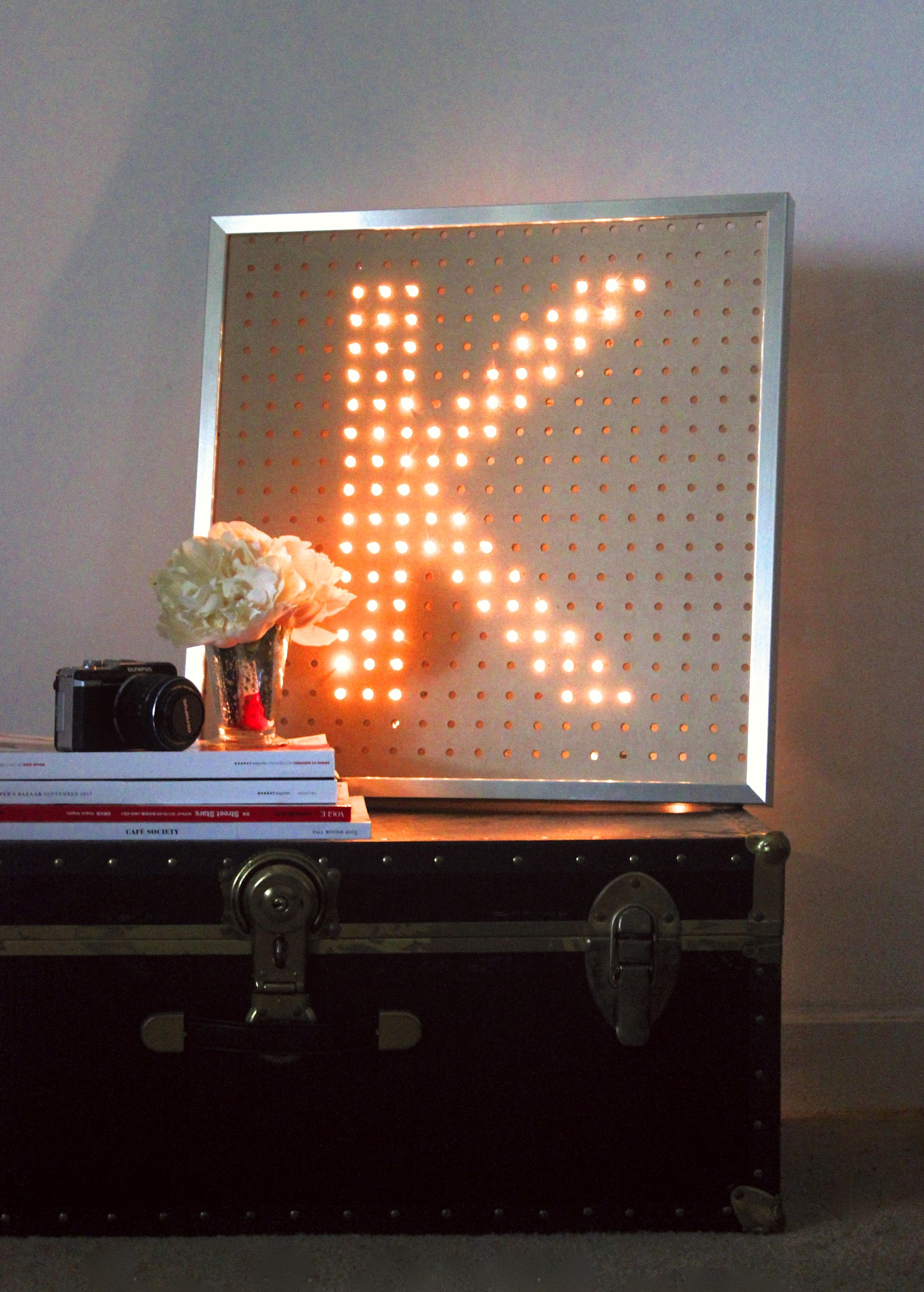 Miss Kris Light Letter Glitter