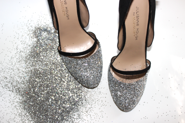 Miss Kris DIY Glitter Pumps Sole Society Glitter N Glue GLITTER