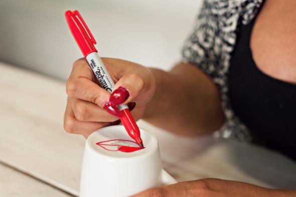 Miss Kris Sharpie Lips Mug Valentines Glitter N Glue  DRAW 2