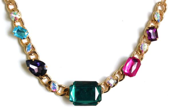 Miss Kris Chunky Jewel Necklace DIY 2