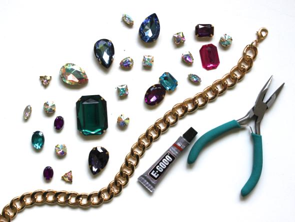 Miss Kris Chunky Jewel Necklace DIY