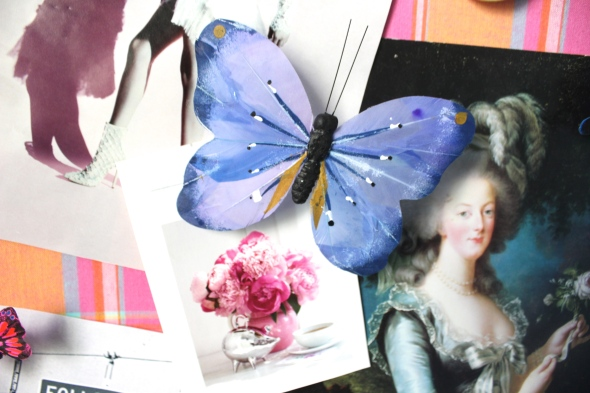 Miss Kris DIY Butterfly Push Pins Inspiration Board Office Decor DETAIL 2